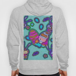 Shapes on a blue background Hoody