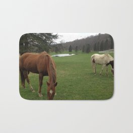 Horses in the Catskills, New York Bath Mat