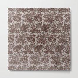 Pegasus Pattern Beige Brown Neutrals Metal Print
