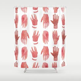 smoth hands Shower Curtain