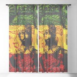 Haile Selassie Lion of Judah Sheer Curtain