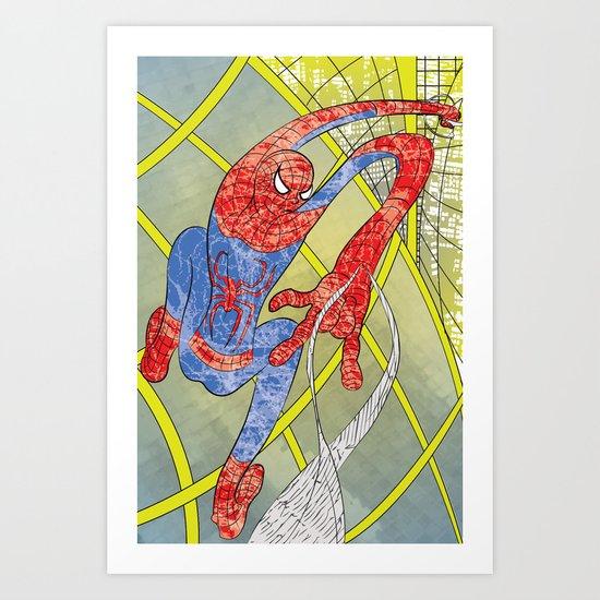 Noodle Spider Art Print