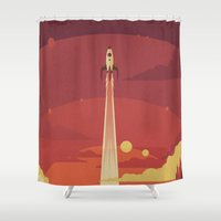 sky Shower Curtains featuring Atomic Sky by Danny Haas