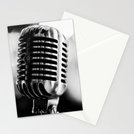 microphone music aesthetic close up elegant mood art photography  Stationery Cards