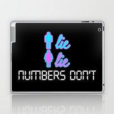 Men Lie, Women Lie, Numbers Don't Laptop & iPad Skin
