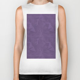 Abstract Polygon Pantone Chive Blossom Purple 18-3634 Geometrical Low Poly Triangle Pattern 1 Biker Tank