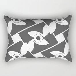 Seamless Geometric Black and White Abstract Pattern Rectangular Pillow