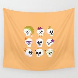 Silly Skulls Wall Tapestry