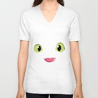 how to train your dragon V-neck T-shirts featuring How to train your dragon Toothless tongue by Komrod