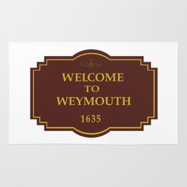 Weymouth Town Sign Rug