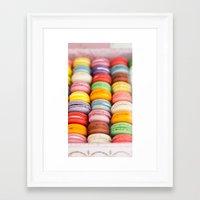 macaroon Framed Art Prints featuring Numerous Macaroon  by Asano Kitamura