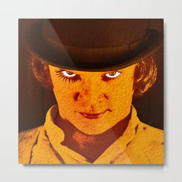 Orange Alex Metal Print