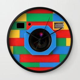 rainbow retro classic vintage camera toys Wall Clock