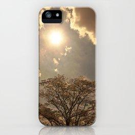nature..sun..clouds..trees iPhone Case