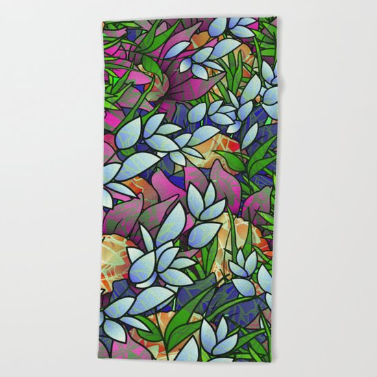 Floral Abstract Artwork G464 Beach Towel
