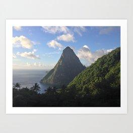 The Big Piton in St. Lucia Art Print