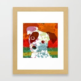 Abstract Colorful Jack Russel Terrier  Framed Art Print