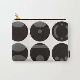 circle black white Carry-All Pouch