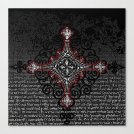 Noble House II CRUSADER RED / Grungy heraldry design Canvas Print