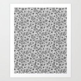 Spring blossoms pattern Art Print