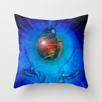 freedom Throw Pillows featuring Freedom by Walter Zettl