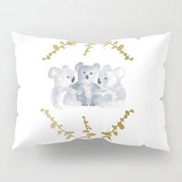 Koalas in Gold Pillow Sham