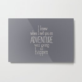 "Winnie the Pooh quote  ""ADVENTURE"" Metal Print"