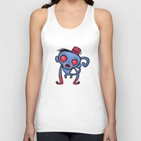 fez Tank Tops featuring Zombie Monkey by John Schwegel