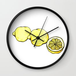 Trois Citrons 2 Wall Clock