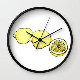 Trois Citrons 2 Wall Clock