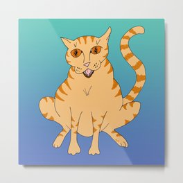 Basic Cat Metal Print
