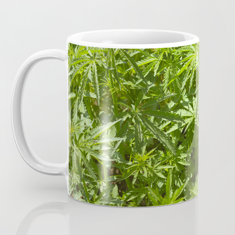 1c9a3632a5b Cannabis Texture Marijuana Leaf Coffee Mug