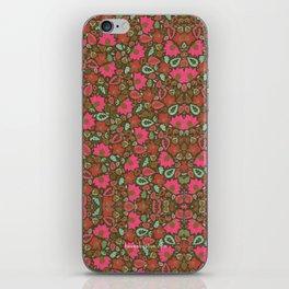 Magenta Floral Pattern iPhone Skin