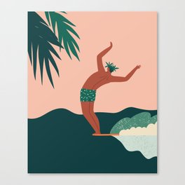 Go with a flow Canvas Print