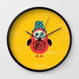 mechanic owl Wall Clock