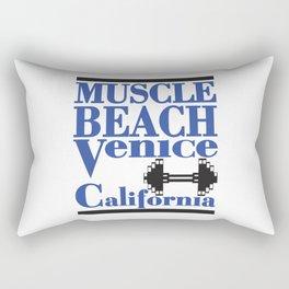 Muscle Beach Venice California Famous Sign Rectangular Pillow
