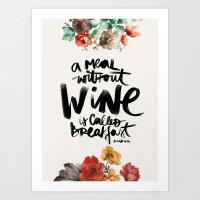 wine Art Prints featuring Wine by Karen Hofstetter