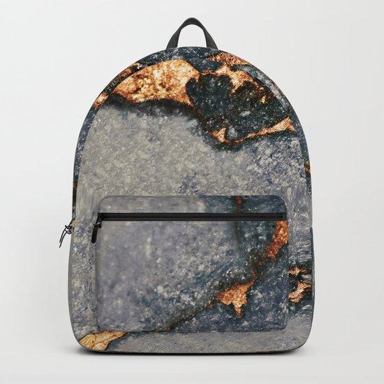 GREY & GOLD GEMSTONE Backpack