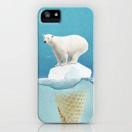 Polar ice cream cap iPhone Case