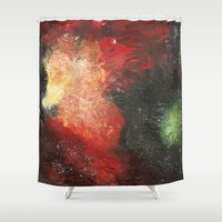 cosmic Shower Curtains featuring Cosmic by Bleriot