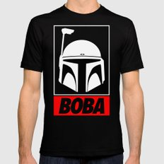 Defy-Boba Black Mens Fitted Tee SMALL
