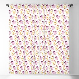 Breakfast Time with Coffee & Eggs on Bacon & Toast Blackout Curtain