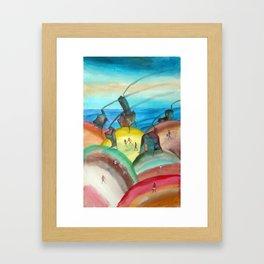 Casitas de Cabo Polonio 3 Framed Art Print