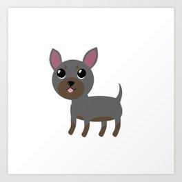 Grey Chihuahua Art Print