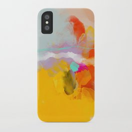 yellow blush abstract iPhone Case