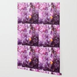 Violet Purple Amethyst Crystal Wallpaper
