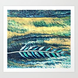 Feather Blues Art Print