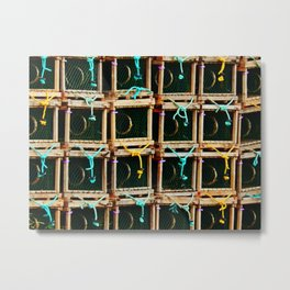 Square Lobster Traps Metal Print
