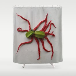 ... AND ALONG CAME A TARANTULA Shower Curtain