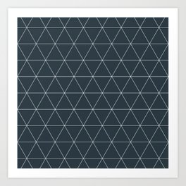 Triangle Lines Art Print